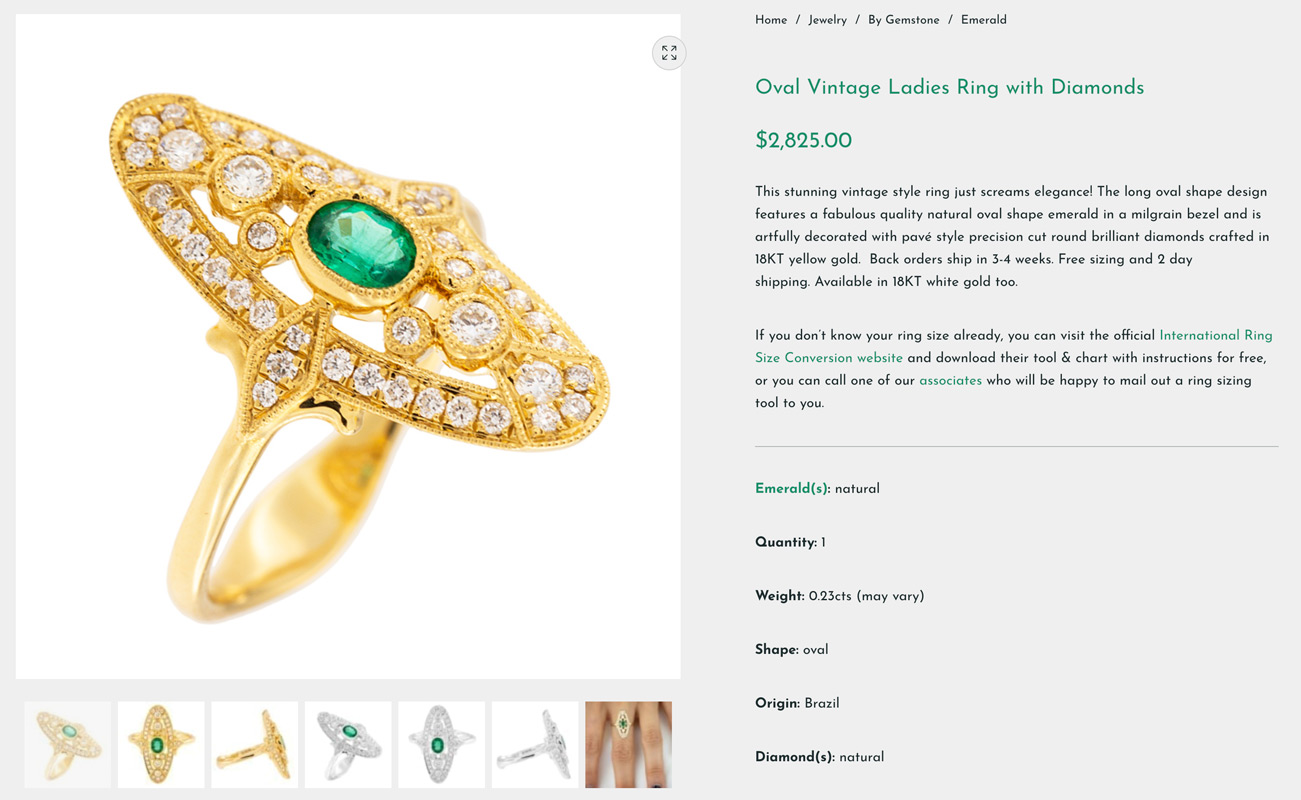 new emeralds international product page