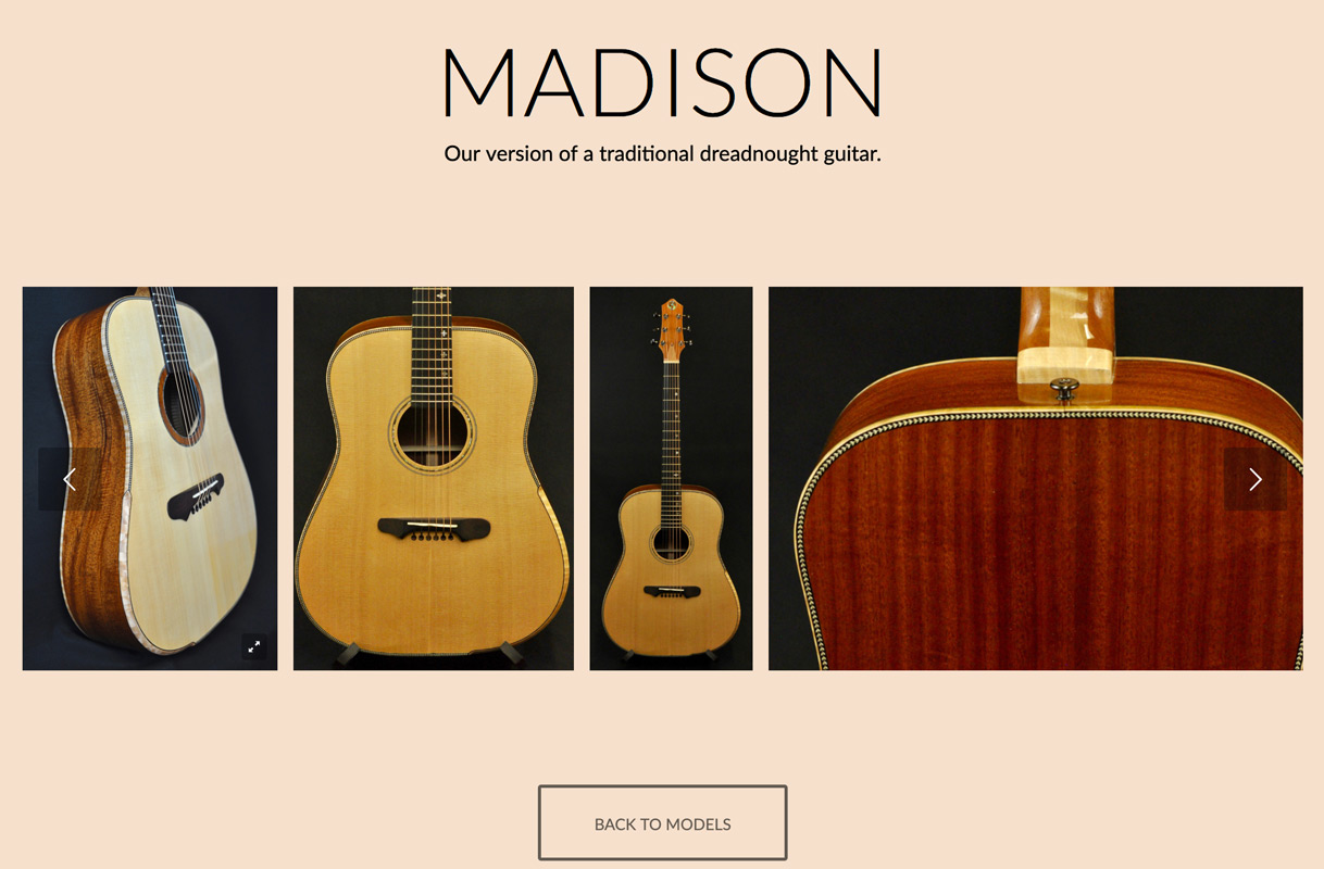 KM Clark Guitars Madison Model Page