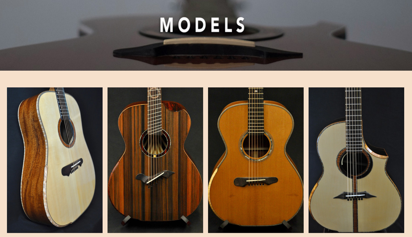 KM Clark Guitars Models Page