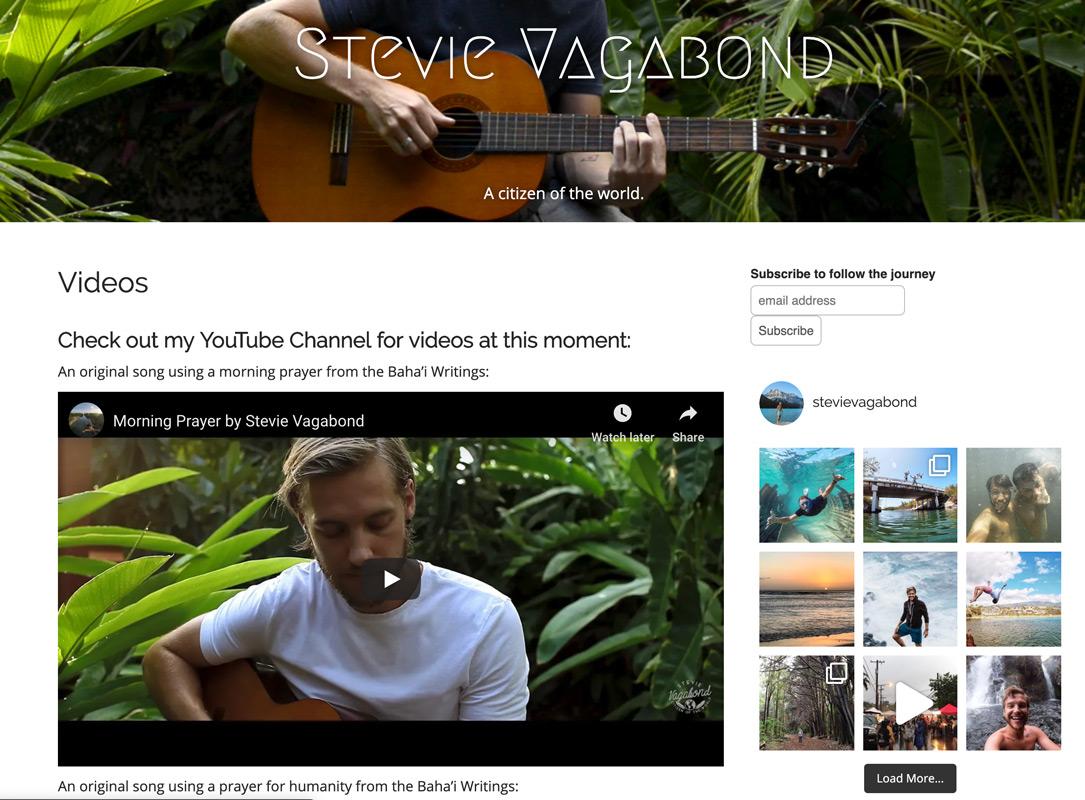 Stevie Vagabond Videos Page